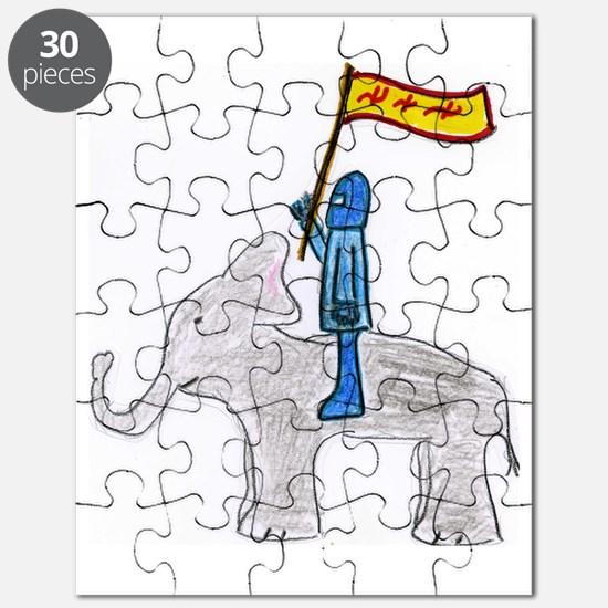 The Blue Knight Puzzle