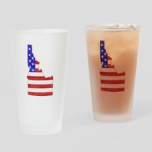 Idaho Flag Drinking Glass