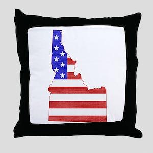 Idaho Flag Throw Pillow