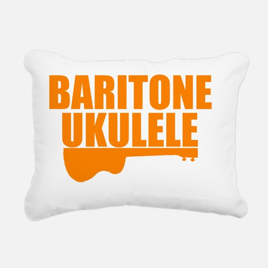 baritone ukulele uke Rectangular Canvas Pillow