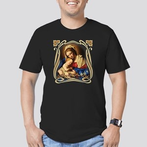 Mary was Pro-Life (squ Men's Fitted T-Shirt (dark)