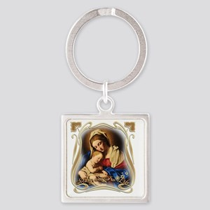 Mary was Pro-Life (square) Square Keychain