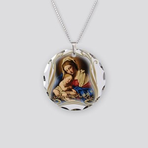 Mary was Pro-Life (square) Necklace Circle Charm