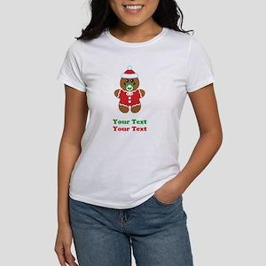 Personalize Gingerbread Santa Baby Women's T-Shirt