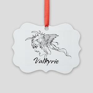 Valkyrie_head_original_LINE_ART_w Picture Ornament