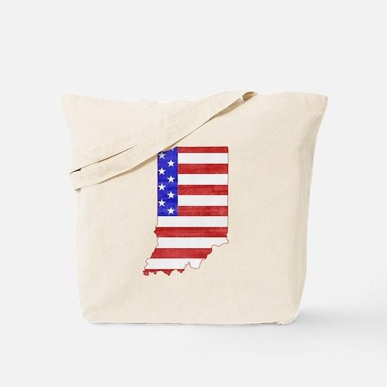 Indiana Flag Tote Bag