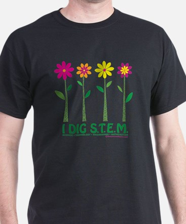 Flower Design STEM T-Shirt
