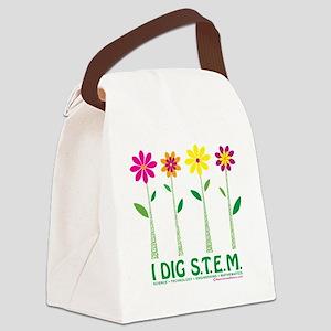 Flower Design STEM Canvas Lunch Bag