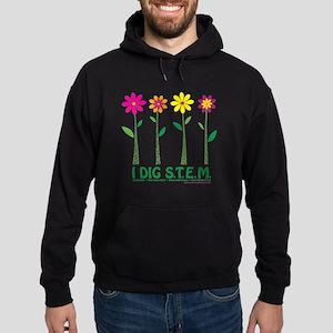 Flower Design STEM Hoodie (dark)