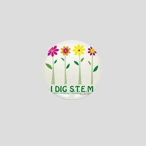 Flower Design STEM Mini Button
