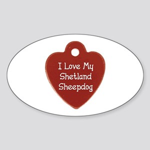 Sheltie Tag Oval Sticker
