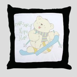 Winter ski Bear Cushion