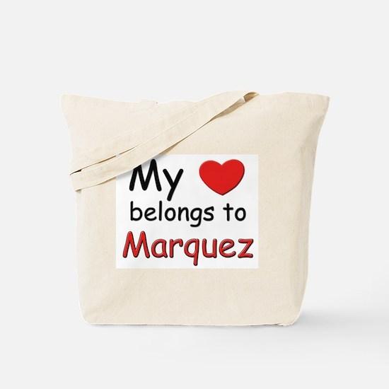 My heart belongs to marquez Tote Bag