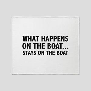 What Happens On The Boat... Stadium Blanket