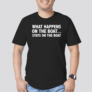 What Happens On The Boat... Men's Fitted T-Shirt (