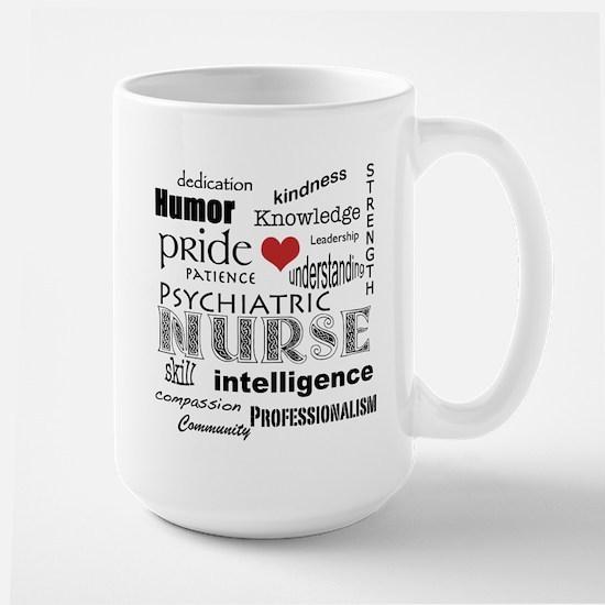 Psychiatric Nurse Pride/Attributes+Red Heart Mugs