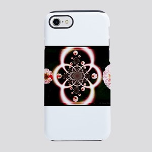 Peppermint Zinnia Swirl iPhone 7 Tough Case