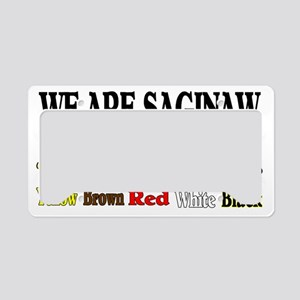 we are saginaw License Plate Holder