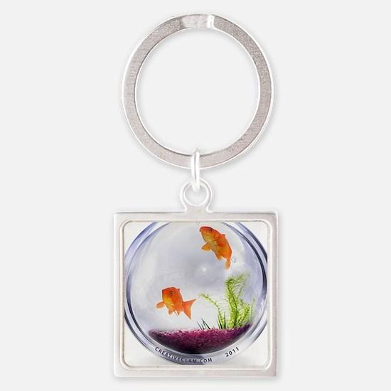 fish-600-01 Square Keychain