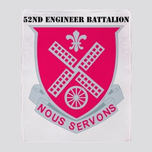 DUI-52ND ENG. BN WITH TEXT Throw Blanket