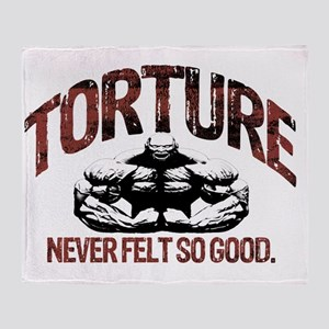 torture bodybuilding Throw Blanket