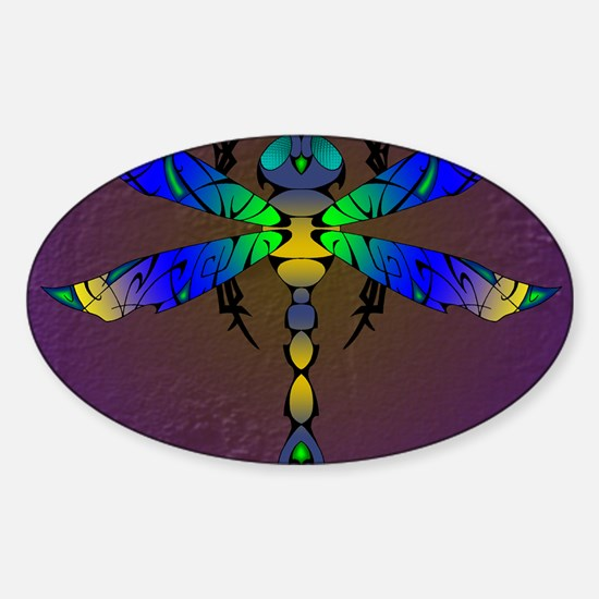 Comet Dragonfly panel Sticker (Oval)