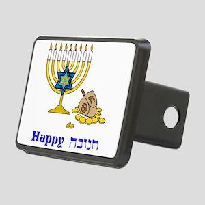 Happy Hanukkah Rectangular Hitch Cover