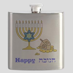Happy Hanukkah Flask