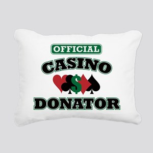 offdonator Rectangular Canvas Pillow