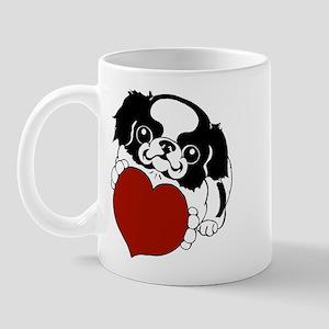 Japanese Chin Heart Mug