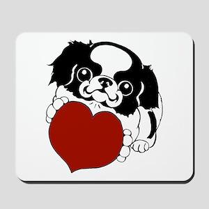 Japanese Chin Heart Mousepad