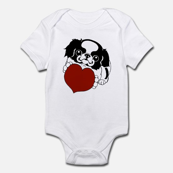 Japanese Chin Heart Infant Bodysuit