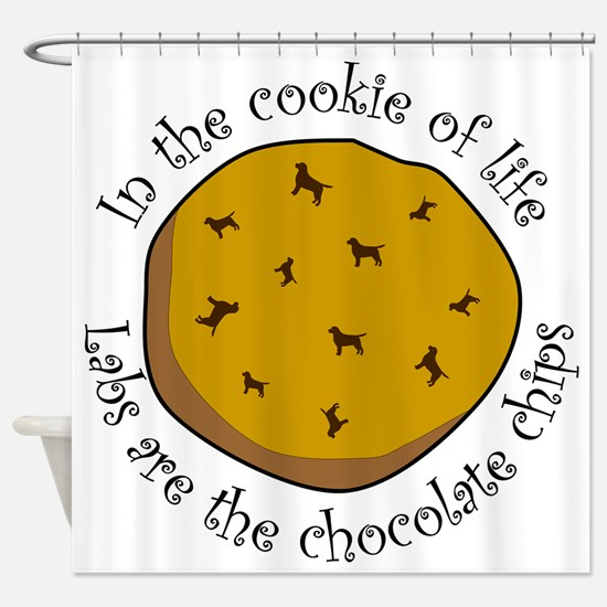 CookieofLife_Lab Shower Curtain