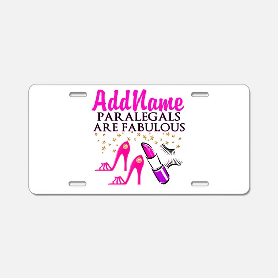 PARALEGAL DIVA Aluminum License Plate