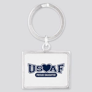 Air Force Daughter Landscape Keychain