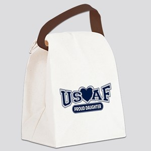 Air Force Daughter Canvas Lunch Bag
