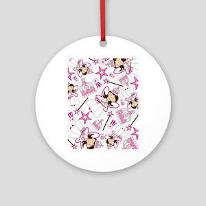 Princess Pad3 Round Ornament