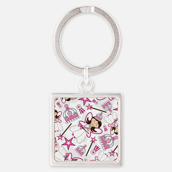 Princess Pad3 Square Keychain