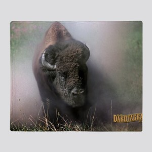 Buffalo Dakotagraph poster Throw Blanket