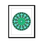 Emerald Crystals Mandala Framed Panel Print