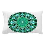 Emerald Crystals Mandala Pillow Case