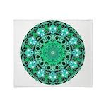 Emerald Crystals Mandala Throw Blanket