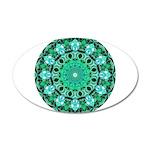Emerald Crystals Mandala 20x12 Oval Wall Decal