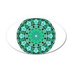 Emerald Crystals Mandala 35x21 Oval Wall Decal