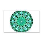 Emerald Crystals Mandala 20x12 Wall Decal
