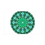 Emerald Crystals Mandala 35x21 Wall Decal