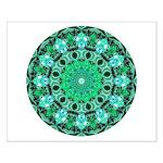Emerald Crystals Mandala Small Poster