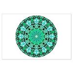 Emerald Crystals Mandala Large Poster