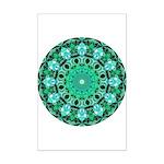 Emerald Crystals Mandala Mini Poster Print