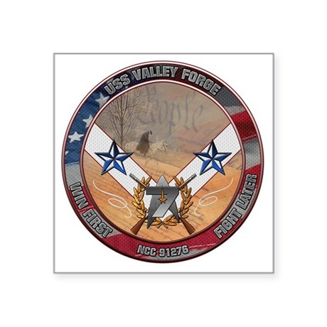 """uss valley forge Square Sticker 3"""" x 3"""""""